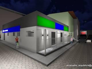 Imagem em 3D - Fachadas de acesso: Lojas e imóveis comerciais  por Ana Cláudia Carvalho _ arquitetura | interiores | light design