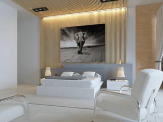 Habitación: Recámaras pequeñas de estilo  por ARTURO ARIAS ARQUITECTOS