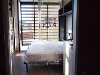 6m x 2.4m Container House:  Small bedroom by A4AC Architects