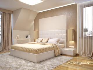 студия Design3F Minimalist bedroom Silver/Gold Beige