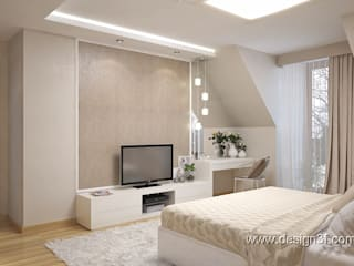 студия Design3F Minimalist bedroom Beige