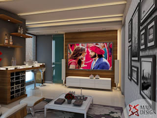 JAYPEE GREENS—RESIDENTIAL PROJECT BY MAD DESIGN Modern media room by MAD Design Modern