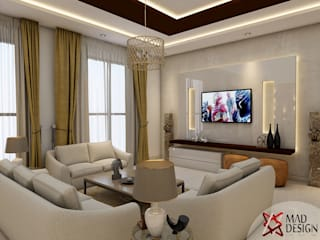 JAYPEE GREENS—RESIDENTIAL PROJECT BY MAD DESIGN Modern living room by MAD Design Modern