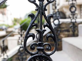 Metal Railings for London Home British Spirals & Castings Rumah Klasik