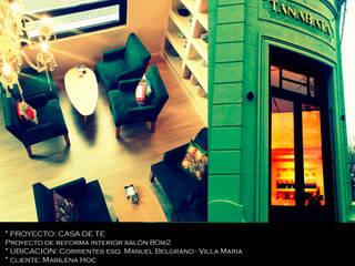 Reforma interior local comercial Estudios y oficinas modernos de Arq Jennifer Morant Moderno
