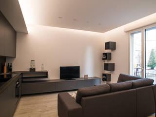 Piccolo appartamento moderno Soggiorno moderno di Arkinprogress Moderno