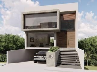 PROYECTOS : Casas pequeñas de estilo  por SA'D ARQUITECTOS