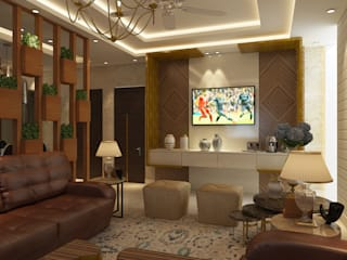 LIVING ROOM- VIEW 1:  Living room by MAD Design