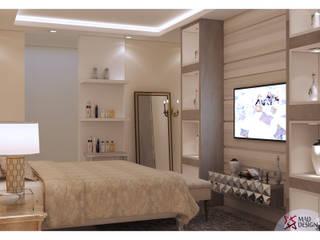 MASTER BEDROOM- VIEW 1:  Bedroom by MAD Design