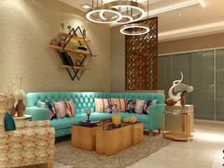 Apartment Project @Palm terrace drives by MAD DESIGN:  Living room by MAD Design