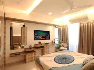 Bedroom:   by Aesthos Interior Design and Consultancy