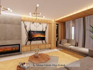 GO Design İç Mimarlık – İ.C.Ç. EVİ PROJESİ:  tarz Oturma Odası