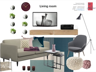 Scandinavian style living room by NK-Line Scandinavian
