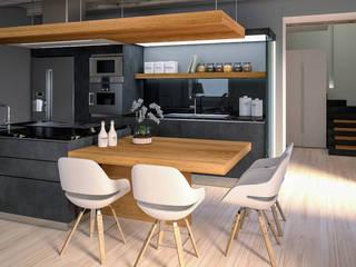 ZONA PRANZO - render fotorealistici d'interni: Cucina in stile  di Insighters Computer Graphics