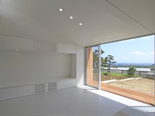 M-N house ミニマルデザインの リビング の アーキデザインワークス一級建築士事務所 ミニマル