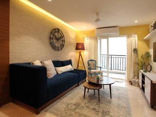 Living Room: rustic  by Saloni Narayankar Interiors,Rustic