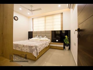 Residential Home Interiors:  Small bedroom by The Inside Storeys