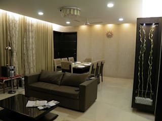 Full Home Interior Lonavala:  Living room by ECLECTIC INTERIORS AND SERVICES