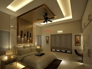 Architects in Kerala Asian style bedroom by CreoHomes Pvt Ltd Asian