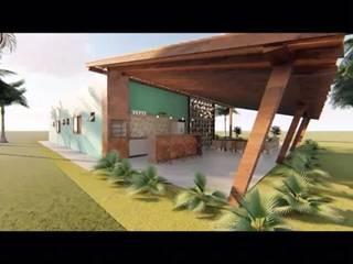 Casa de Sítio: Casas do campo e fazendas  por Fabiane Franco Arquiteta