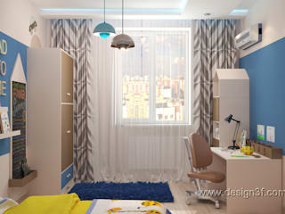студия Design3F Nursery/kid's room Blue