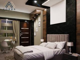 Minimalist bedroom by KORBA Arquitectos Minimalist