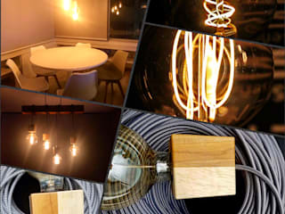 Comedor Iluminación Led Vintage: Comedores de estilo  por Adriana Correa Diseño Inteligente, Moderno