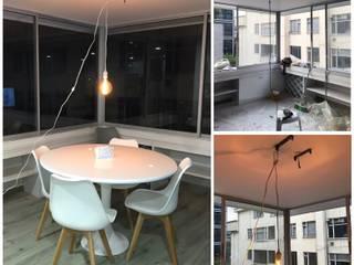 Comedor Iluminación Led Vintage: Comedores de estilo  por Adriana Correa Diseño Inteligente, Escandinavo