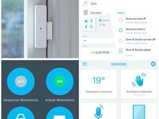 Seguridad Hogar Inteligente: Ventanas de estilo  por Adriana Correa Diseño Inteligente