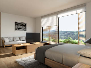 Bedroom by HAC Arquitectura,
