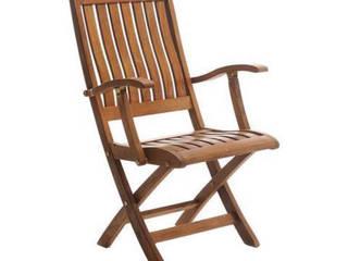 Palmiye Koçak Sandalye Masa Koltuk Mobilya Dekorasyon – İroko Katlanır Kollu Bahçe Sandalyesi:  tarz