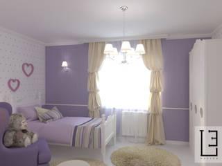 Дизайн-проект спальни для девочки 11 лет. г. Тюмень (Проект выполнен удалённо): Спальни для девочек в . Автор – L.E.DESIGNINTERIOR