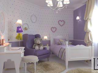 Дизайн-проект спальни для девочки 11 лет. г. Тюмень (Проект выполнен удалённо): Детские комнаты в . Автор – L.E.DESIGNINTERIOR
