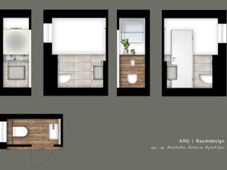 Gäste WC - Reihenhaus in Bernau bei Berlin:   von KHG Raumdesign - Innenarchitektin in Berlin