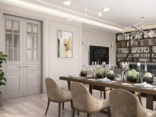 Phòng ăn phong cách kinh điển bởi Дизайн студия Алёны Чекалиной Kinh điển