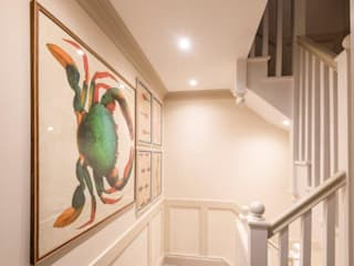 Knightbridge renovation Classic style corridor, hallway and stairs by Prestige Architects By Marco Braghiroli Classic