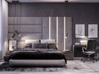 Phòng ngủ theo Проектно-строительная компания УралДеко, Tối giản