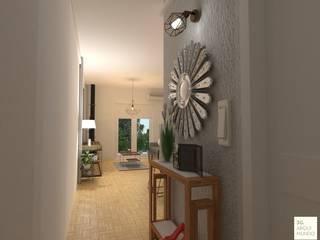 Acceso principal.: Pasillos y recibidores de estilo  por Arquimundo 3g - Diseño de Interiores - Ciudad de Buenos Aires