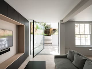 The Bevel Extension IQ Glass UK Glass doors Aluminium/Zinc Grey