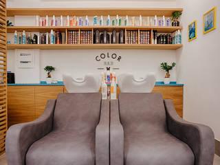 Salone di bellezza Dacci un taglio Negozi & Locali commerciali in stile minimalista di manuarino architettura design comunicazione Minimalista