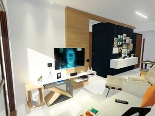 Livings de estilo  por Sônia Beltrão Arquitetura , Moderno