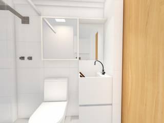 Phòng tắm phong cách hiện đại bởi Sônia Beltrão Arquitetura Hiện đại