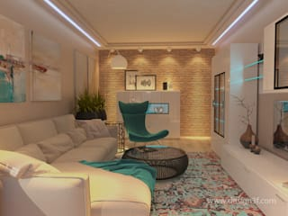 студия Design3F Living room Beige