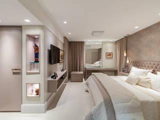 Arquitetura Sônia Beltrão & associados 臥室 Beige