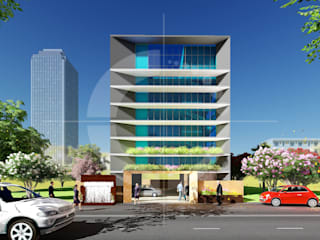 MR.SUKUMAR'S OFFICE BUILDING:   by Vasantha Architects and Interior Designers