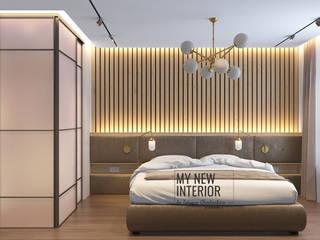 Дизайн спальни в трехкомнатной квартире - 95 кв.м Спальня в стиле минимализм от Татьяна Черкашина   My New Interior Минимализм