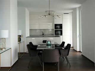 Anastasia Reicher Interior Design & Decoration in Wien Modern dining room White
