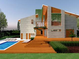 REFÚGIO SERRANO Casas campestres por Pedro Ivo Fernandes | Arquiteto e Urbanista Campestre