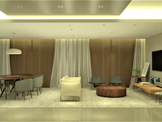Salas modernas de Pedro Ivo Fernandes | Arquiteto e Urbanista Moderno