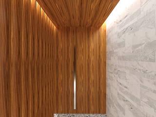 Pasillos, vestíbulos y escaleras modernos de Pedro Ivo Fernandes | Arquiteto e Urbanista Moderno